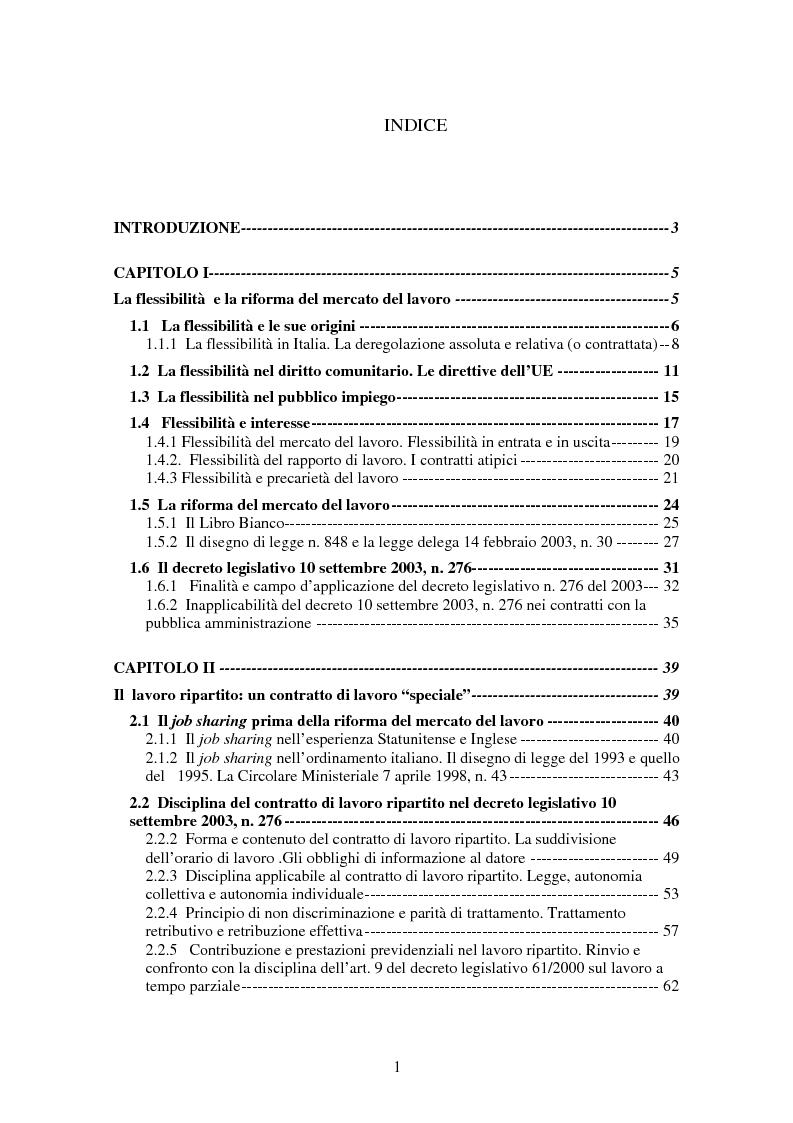 Contratto di lavoro ripartito indice pagina 1 di 2 for Contratto 3 2