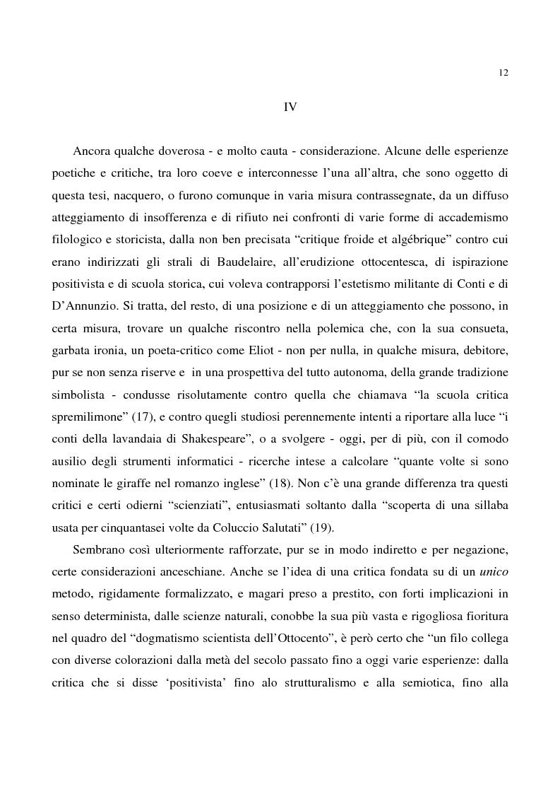 Anteprima della tesi: Artifex additus artifici. Creazione poetica e riflessione critica tra simbolismo ed estetismo, Pagina 8