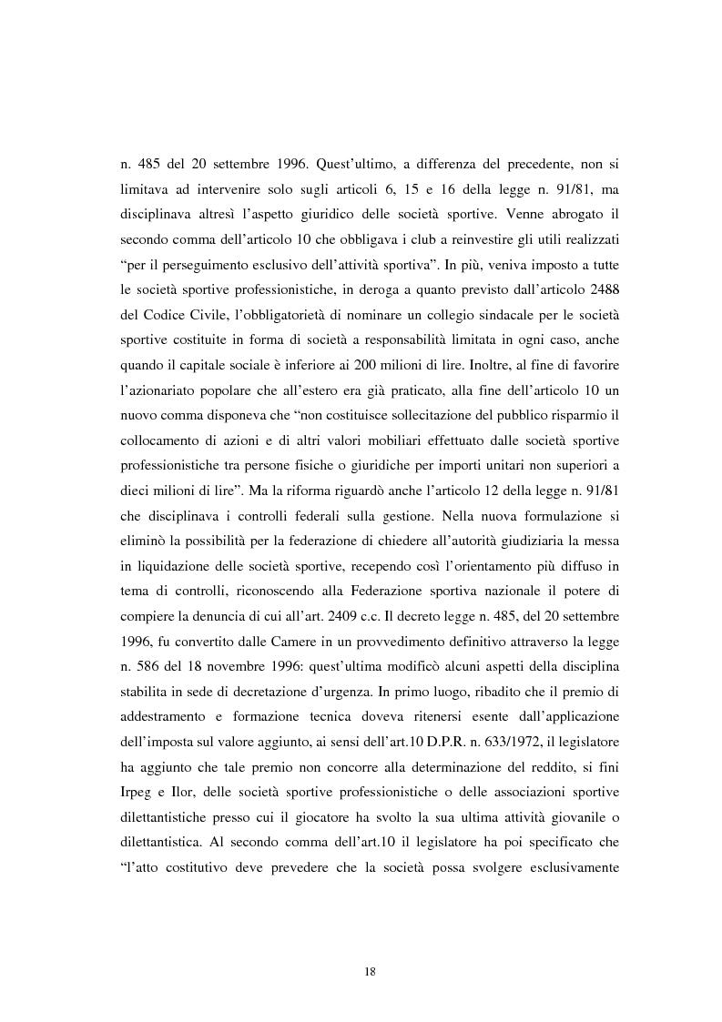 Anteprima della tesi: La crisi del settore calcio: analisi economico-finanziaria delle società professionistiche. Il caso Ancona Calcio., Pagina 13