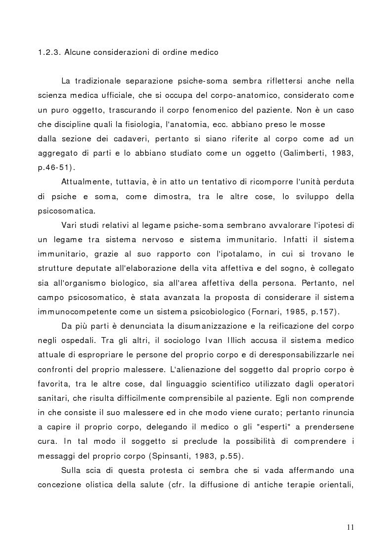 Anteprima della tesi: Il corpo in psicoterapia. La ''danza terapia'': problemi e prospettive, Pagina 11