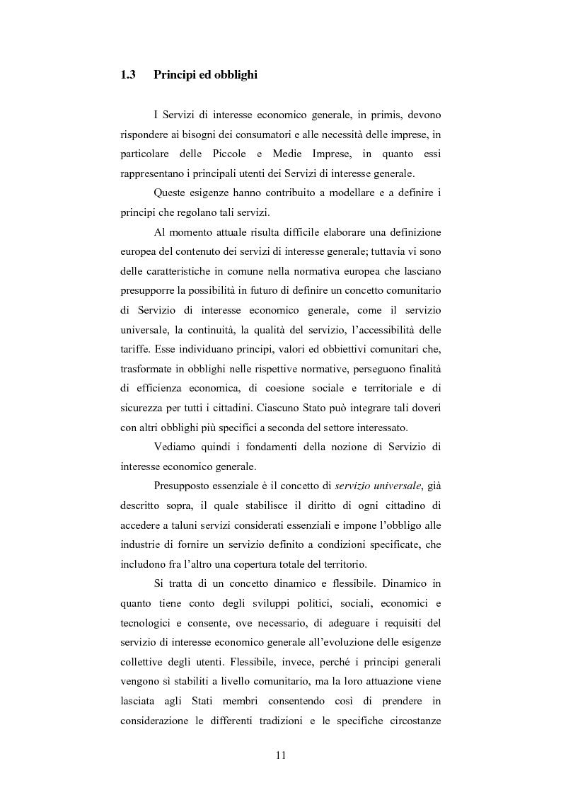 Anteprima della tesi: I servizi di interesse economico generale. Una problematica in evoluzione., Pagina 9