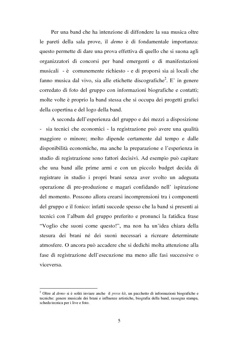 Anteprima della tesi: Percorsi e labirinti. Alcuni progetti musicali per band emergenti: un'analisi, Pagina 5
