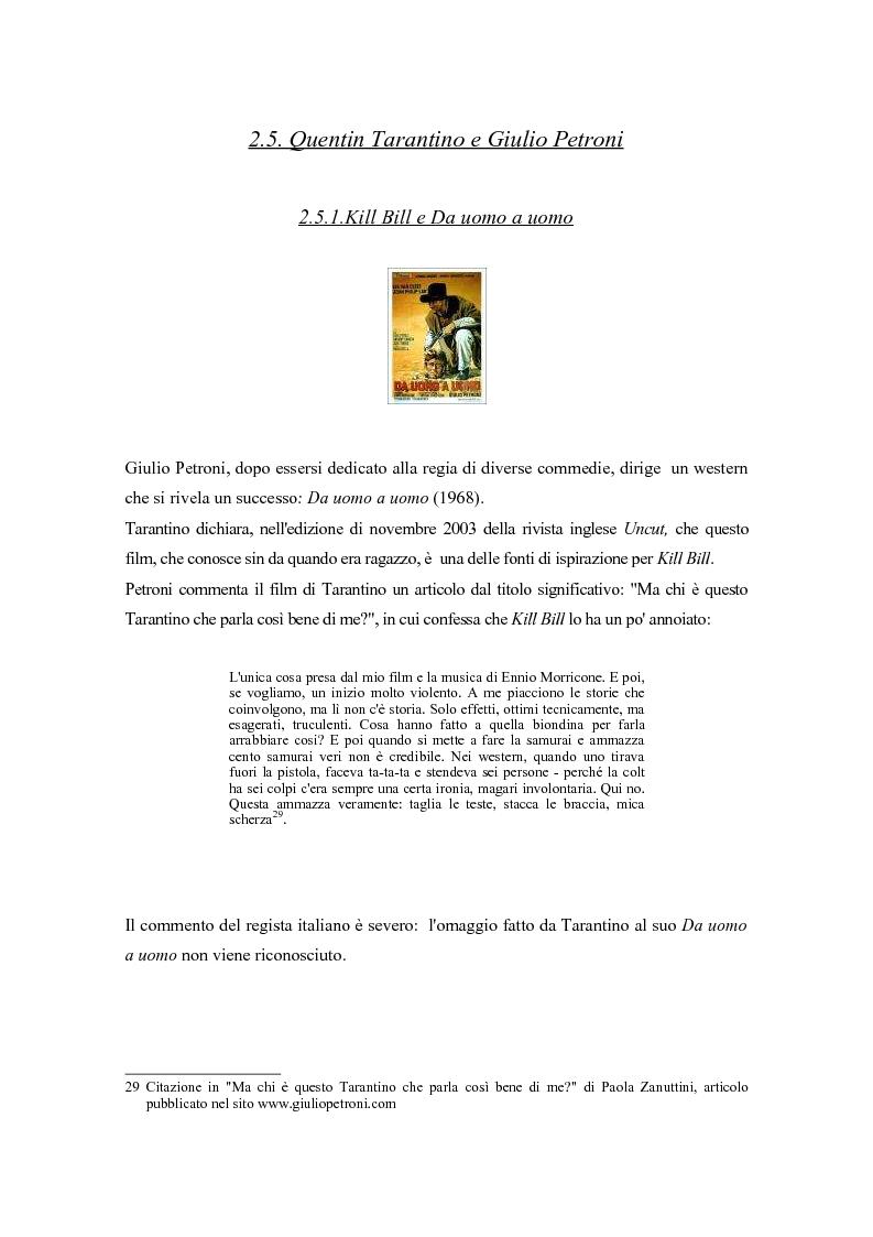 Quentin Tarantino E Il Cinema Italiano Di Genere Influenze