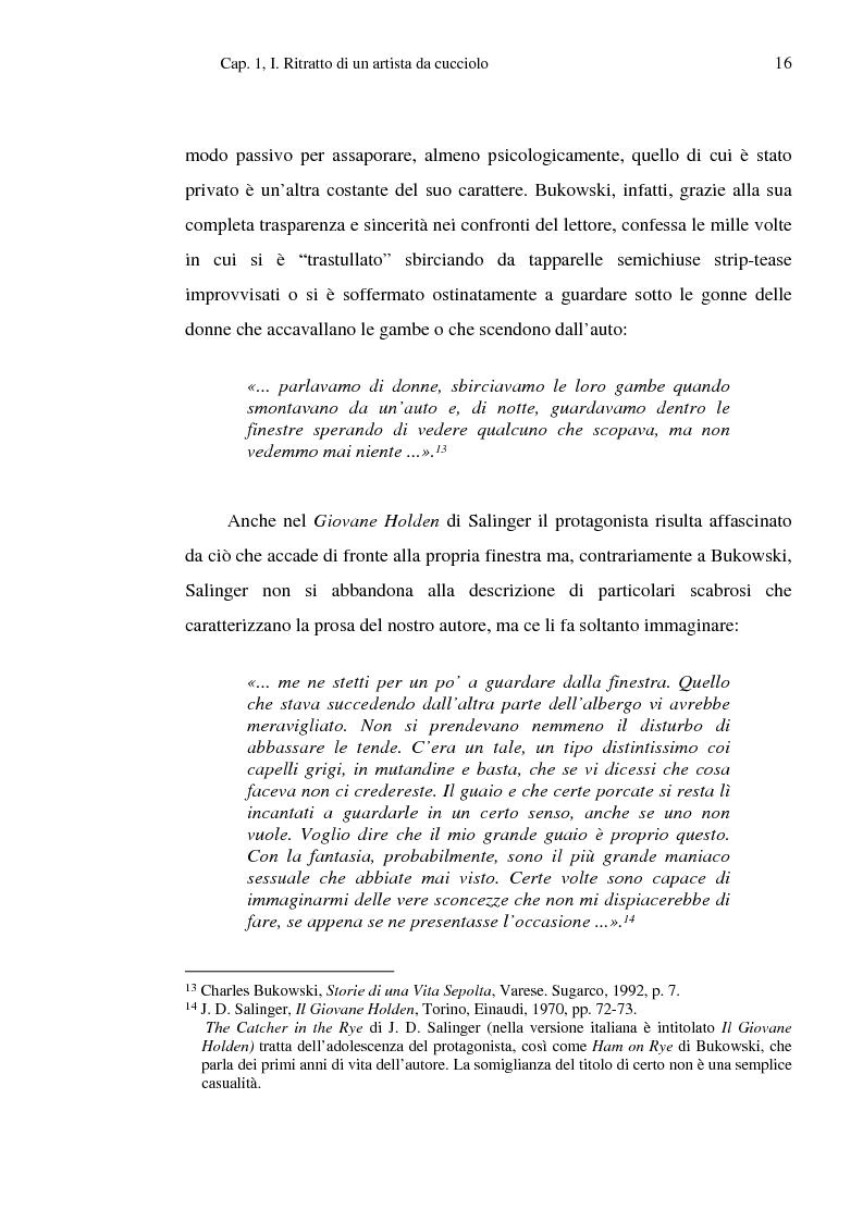 Anteprima della tesi: Charles Bukowski al di là del ''BeRe'' e del Male, Pagina 13