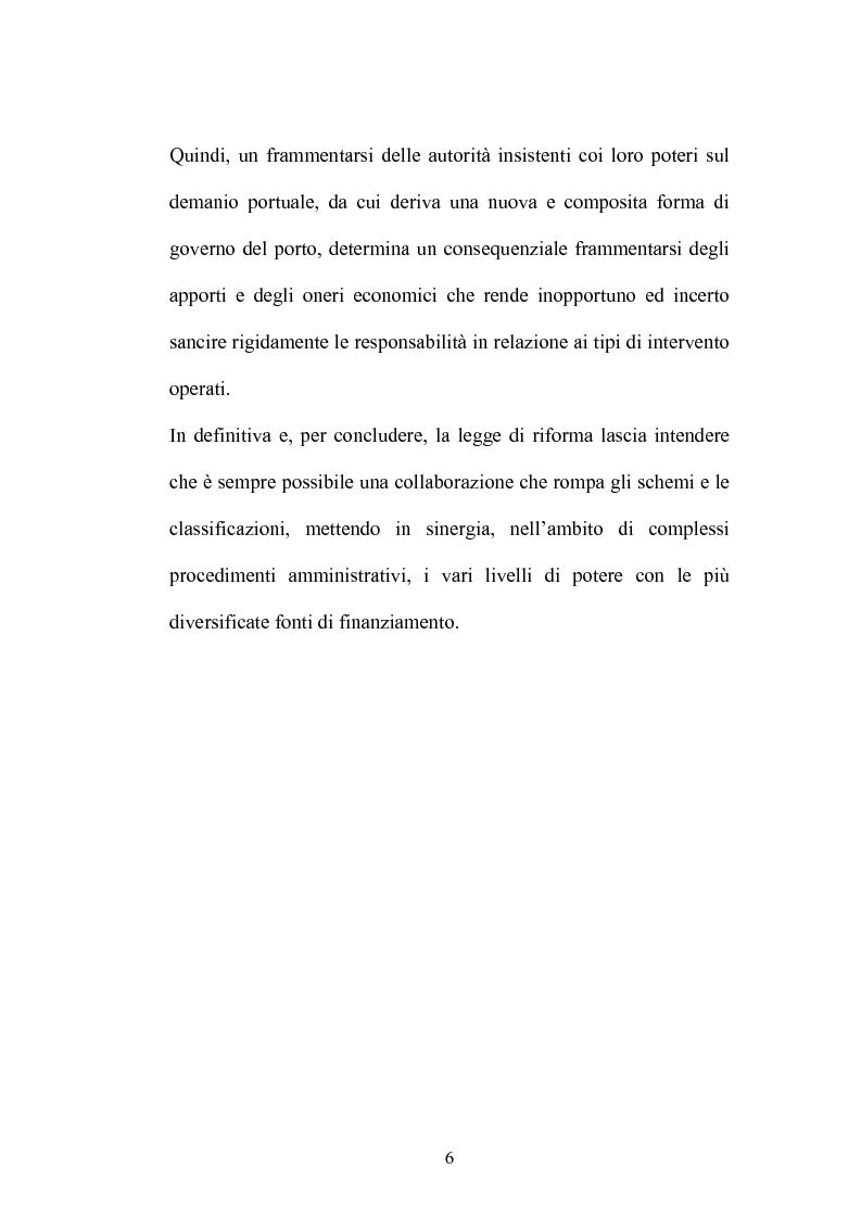 Anteprima della tesi: Gli interventi della P.A. nella realizzazione delle opere portuali: progettazione e finanziamento, Pagina 4
