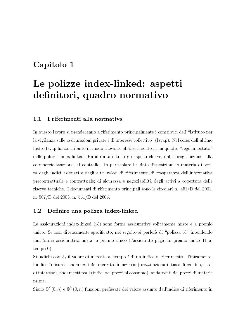 Anteprima della tesi: Valutazione e Controllo di Polizze Index-Linked, Pagina 1