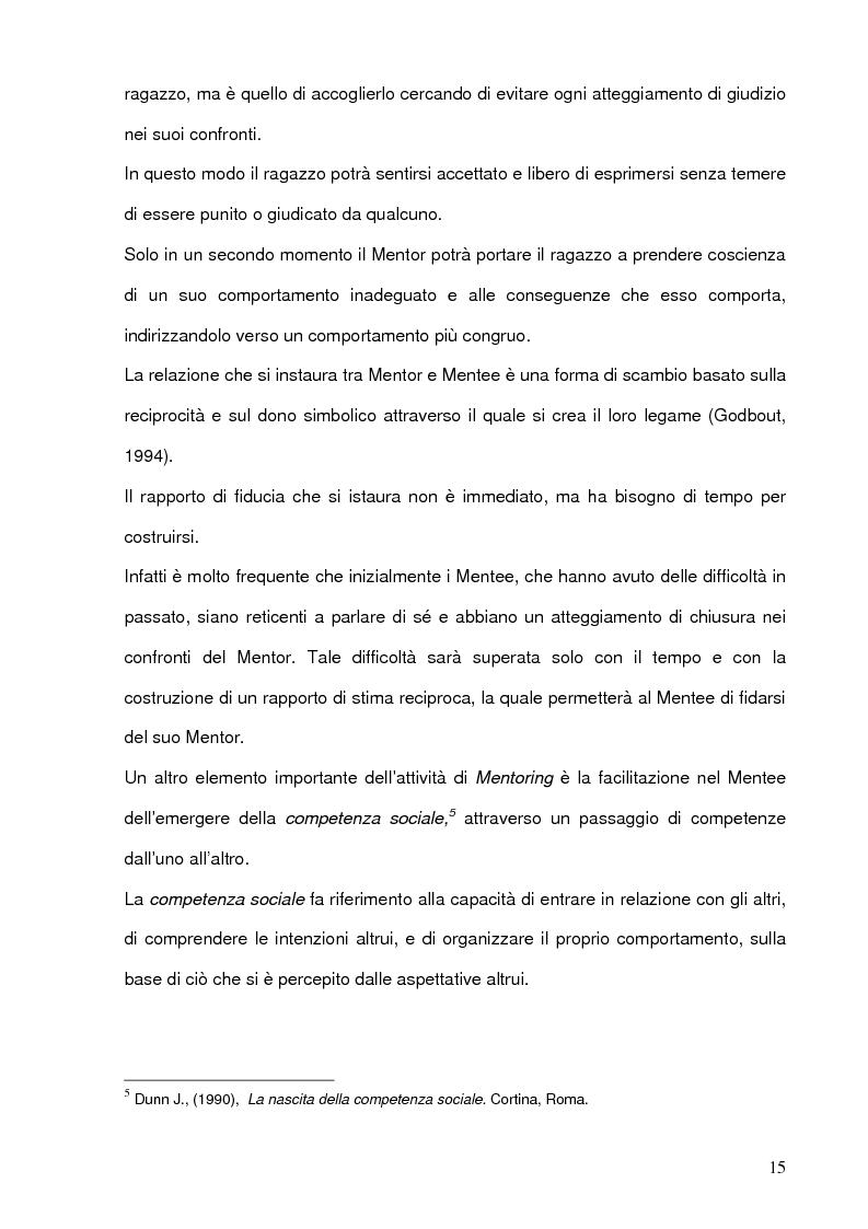 Anteprima della tesi: Il mentoring a contrasto della dispersione scolastica, Pagina 11