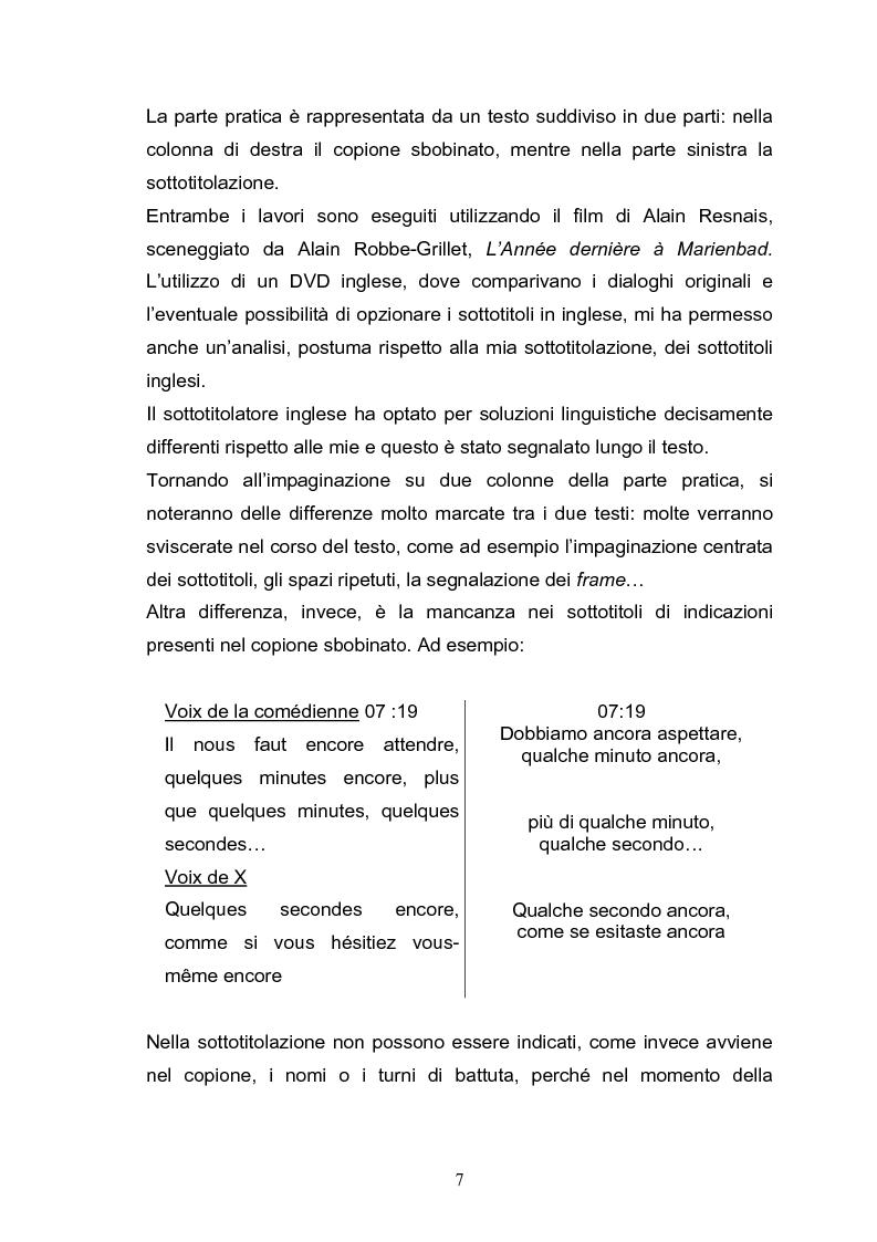Anteprima della tesi: L'Année dernière à Marienbad di Alain Resnais e Alain Robbe-Grillet. Dall'adattamento alla sottotitolazione passando per la traduzione audiovisiva., Pagina 2
