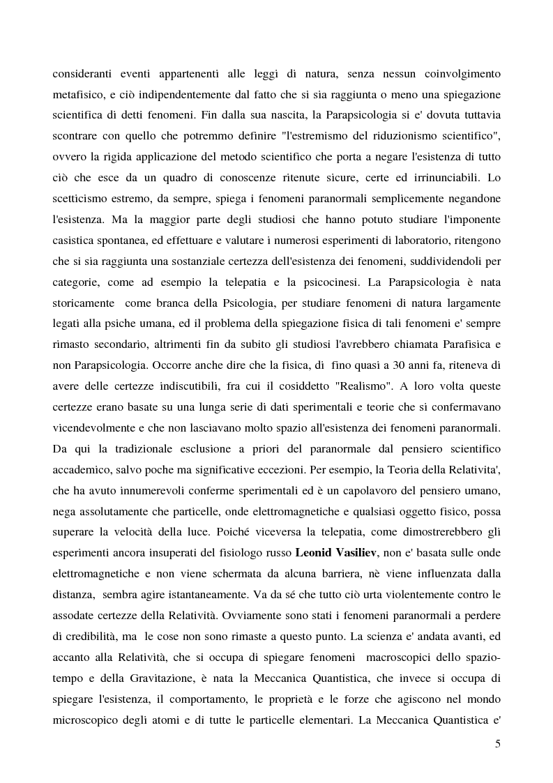Anteprima della tesi: Psicodetective e Psicospie. La prospettiva di utilizzo della Parapsicologia, dell'Extra Sensory Perception e della Psicologia Investigativa nelle indagini Giudiziarie, Pagina 2