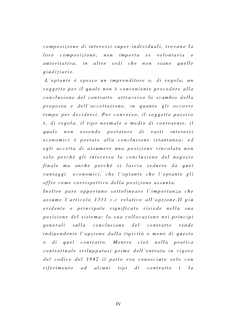 Anteprima della tesi: L'opzione, Pagina 3