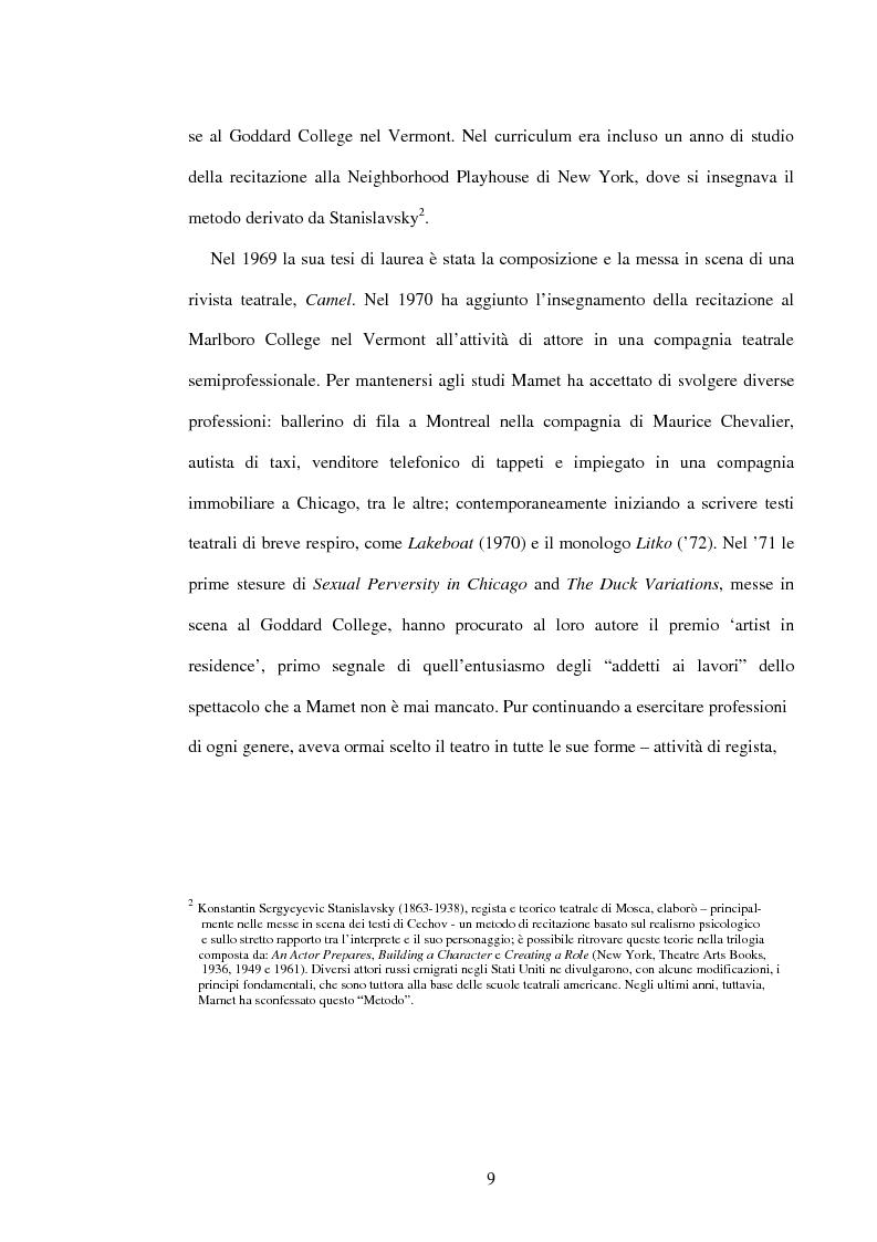 Anteprima della tesi: American Buffalo di David Mamet: la donna assente, Pagina 8