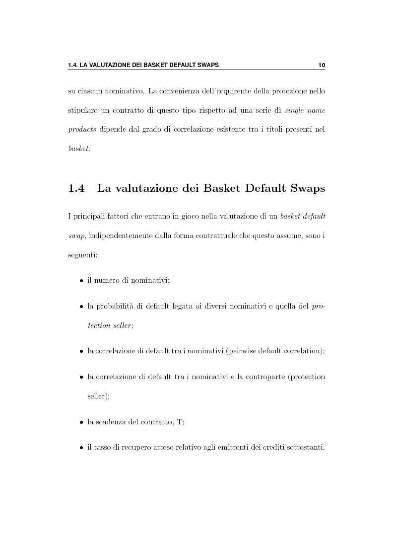 Anteprima della tesi: Pricing di Credit Derivatives Esotici mediante Programmazione in C++, Pagina 10