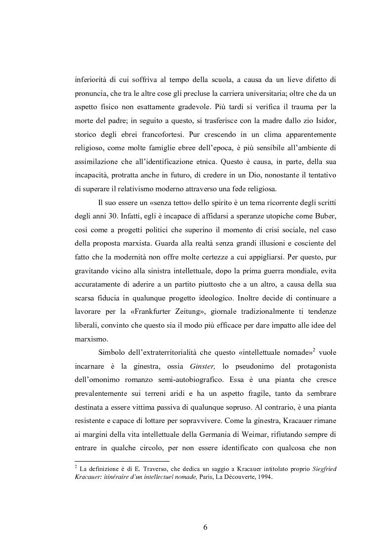 Anteprima della tesi: La diagnosi della modernità di Siegfried Kracauer, Pagina 3