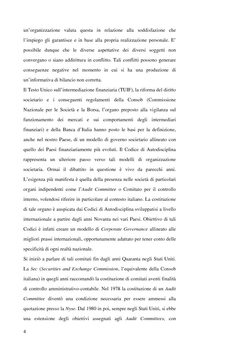 Anteprima della tesi: Corporate Governance: The Audit Committee, Pagina 4