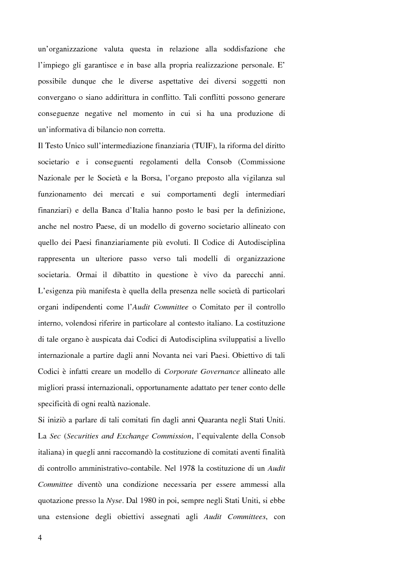 Anteprima della tesi: Corporate Governance: The Audit Committee, Pagina 4