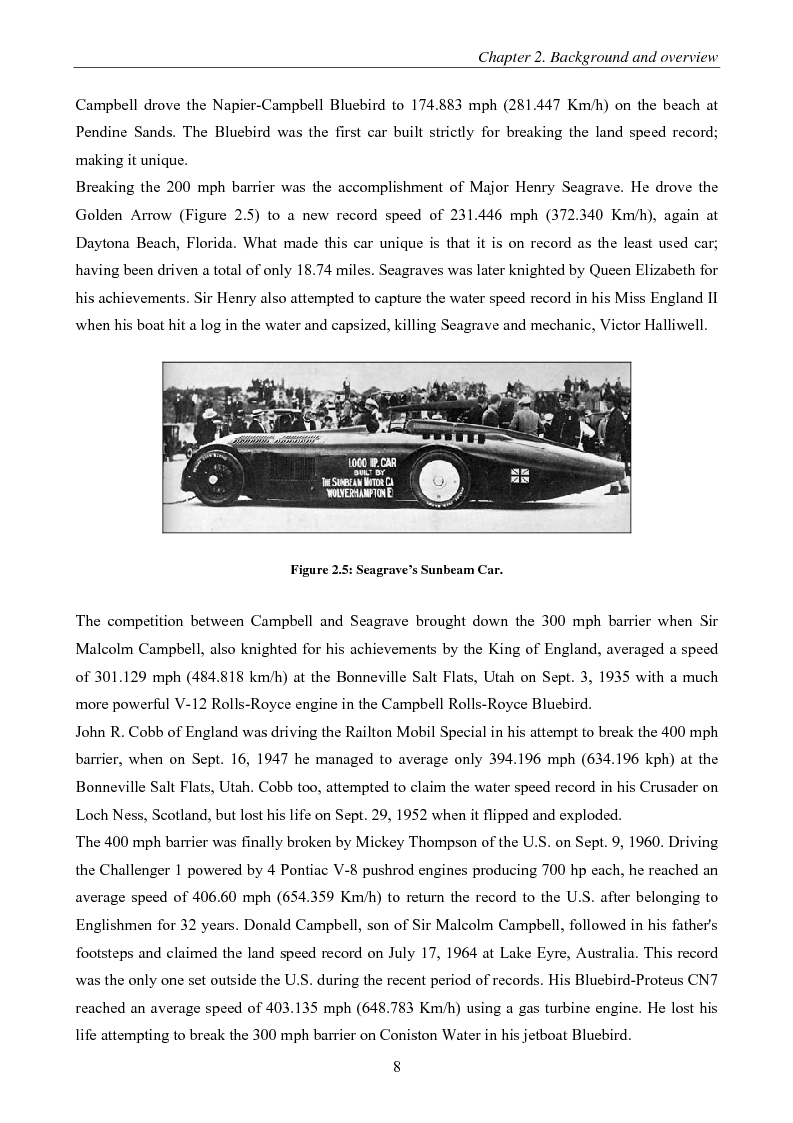 Anteprima della tesi: Design and Analysis of chassis and suspension of a Land Speed Record vehicle, Pagina 8