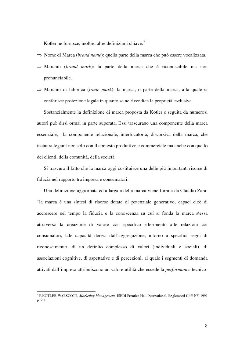 Anteprima della tesi: Strategie di comunicazione nel cambio brand: il caso Omnitel-Vodafone, Pagina 8