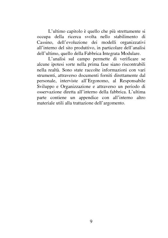 Anteprima della tesi: Strategie organizzative nel comparto automobilistico: dalla fabbrica ad alta automazione alla fabbrica modulare, Pagina 4