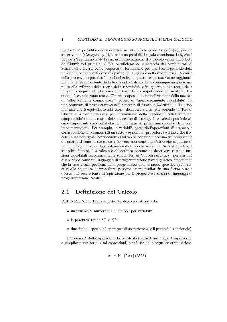 Anteprima della tesi: Compilatore Z : XML tra Source e Target, Pagina 4