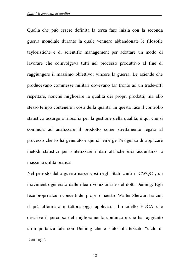 Anteprima della tesi: Il controllo statistico di qualità e le carte di controllo, Pagina 10