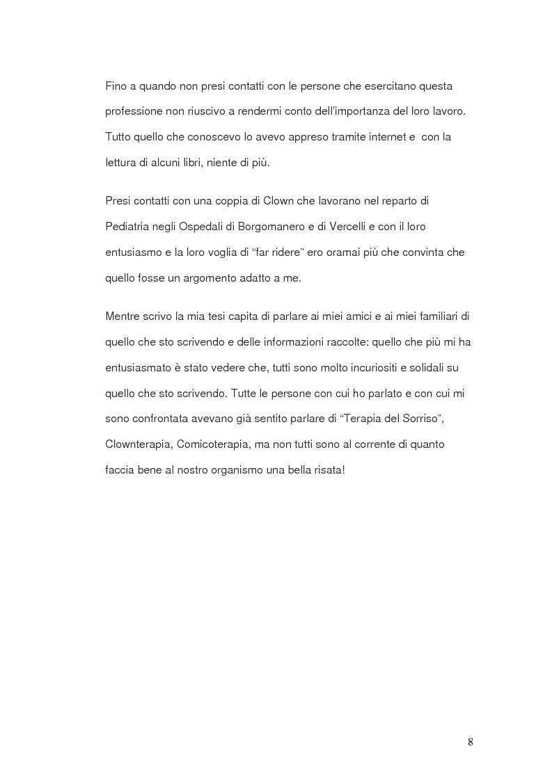 Anteprima della tesi: Clownterapia, Pagina 2