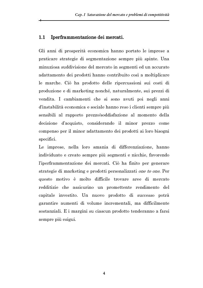 Anteprima della tesi  Soluzioni di risposta creativa alla saturazione dei  mercati  il marketing laterale. « 7c0e2bbbd6e