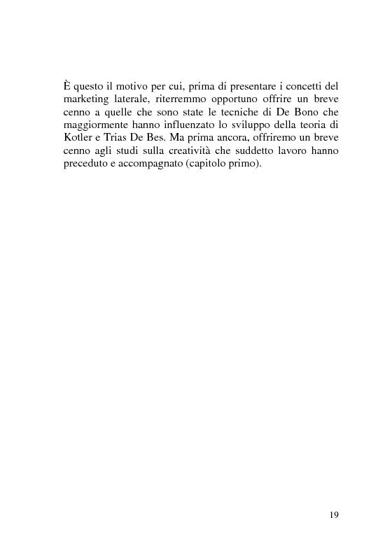Anteprima della tesi: I nuovi metodi per comunicare l'impresa: marketing laterale, marketing non-convenzionale e nuove strategie di ricerca sul consumo, Pagina 12
