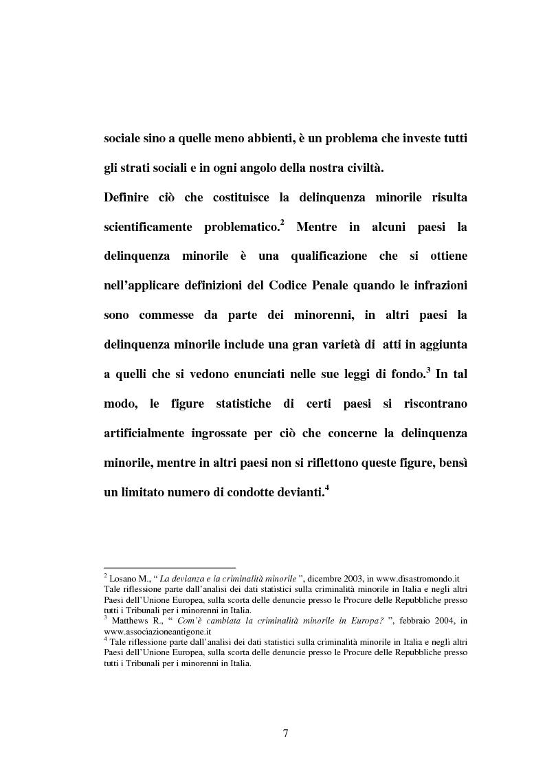 Anteprima della tesi: Punire o educare il minore criminale? Italia e Spagna a confronto fra problemi proposte e prospettive, Pagina 6
