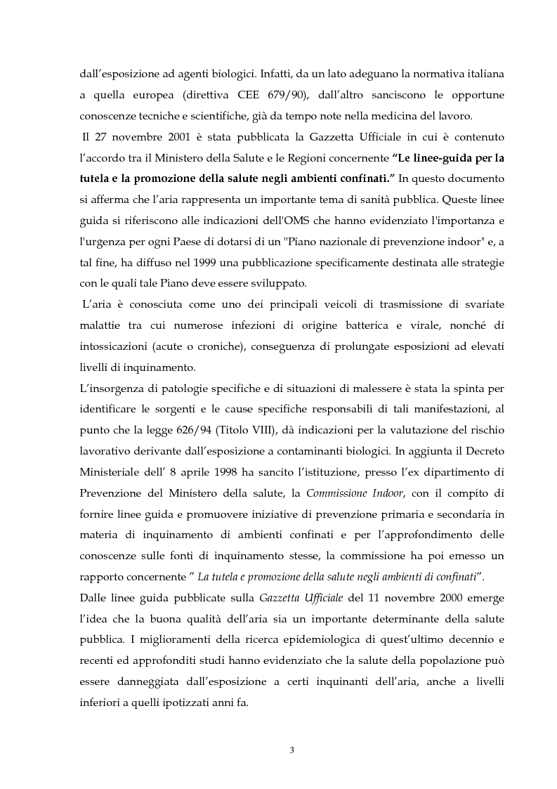 Anteprima della tesi: Metodologie di valutazione della qualità del bioaerosol in ambienti confinati, Pagina 2
