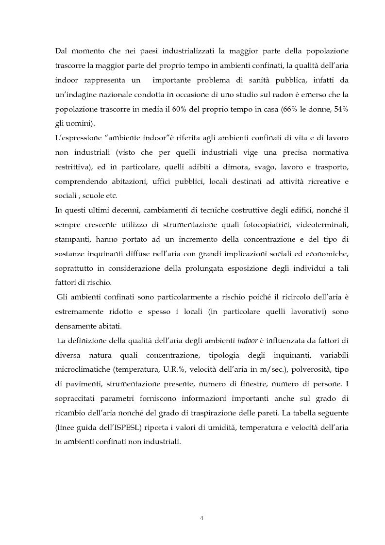 Anteprima della tesi: Metodologie di valutazione della qualità del bioaerosol in ambienti confinati, Pagina 3
