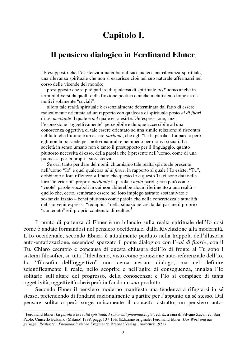 Anteprima della tesi: Filosofia della musica in Ferdinand Ebner e Martha Nussbaum, Pagina 5