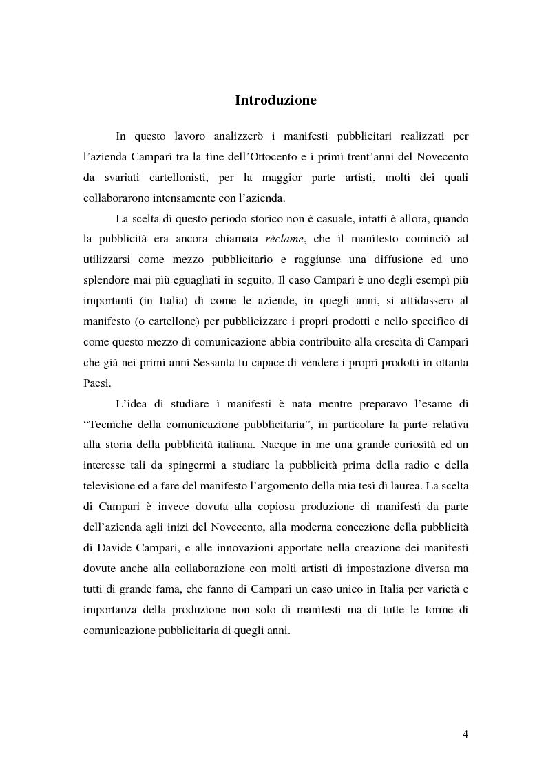 Anteprima della tesi: L'arte del manifesto al tempo della réclame: il caso Campari, Pagina 1