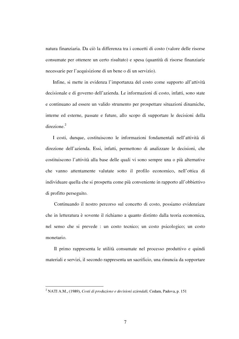 Anteprima della tesi: Metodologie e strumenti per la costruzione delle informazioni di costo, Pagina 5