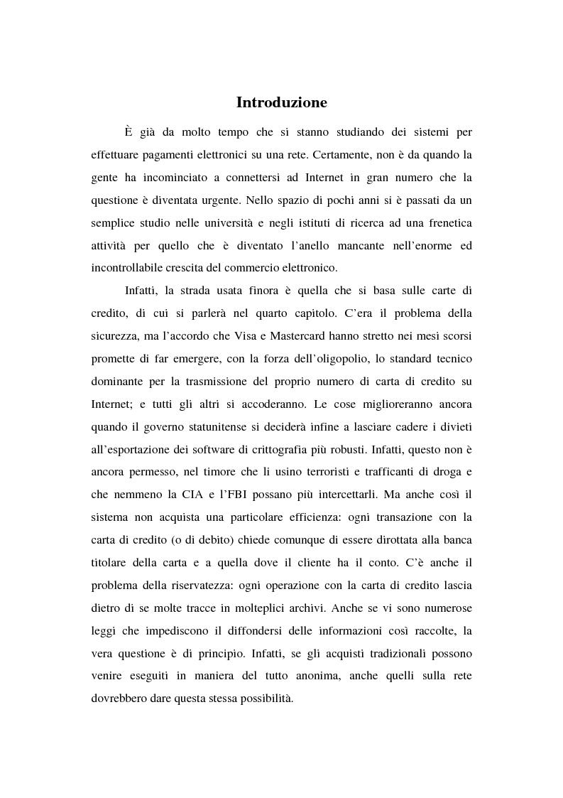 Anteprima della tesi: Il commercio elettronico su Internet: gli strumenti di pagamento e la loro sicurezza, Pagina 1