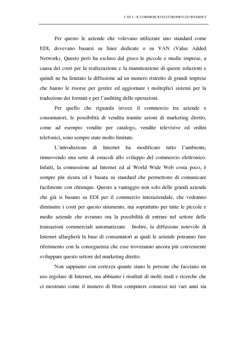 Anteprima della tesi: Il commercio elettronico su Internet: gli strumenti di pagamento e la loro sicurezza, Pagina 5