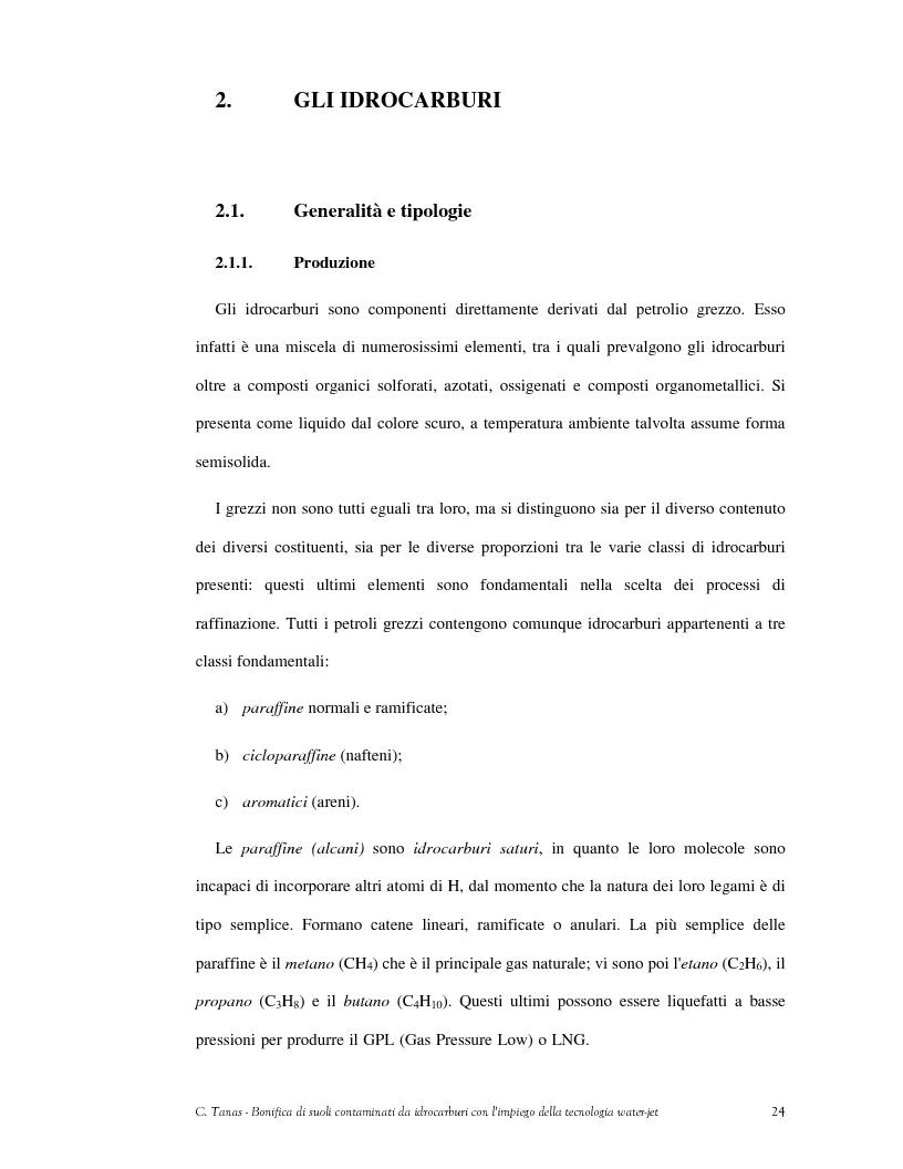 Anteprima della tesi: Bonifica di suoli contaminati da idrocarburi con l'impiego della tecnologia water-jet, Pagina 15