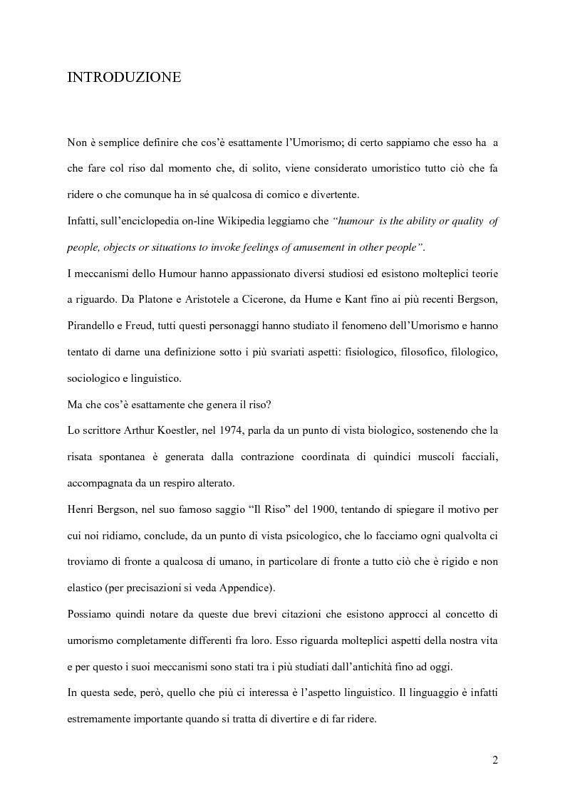 Anteprima della tesi: L'umorismo inglese e le sue forme, Pagina 1