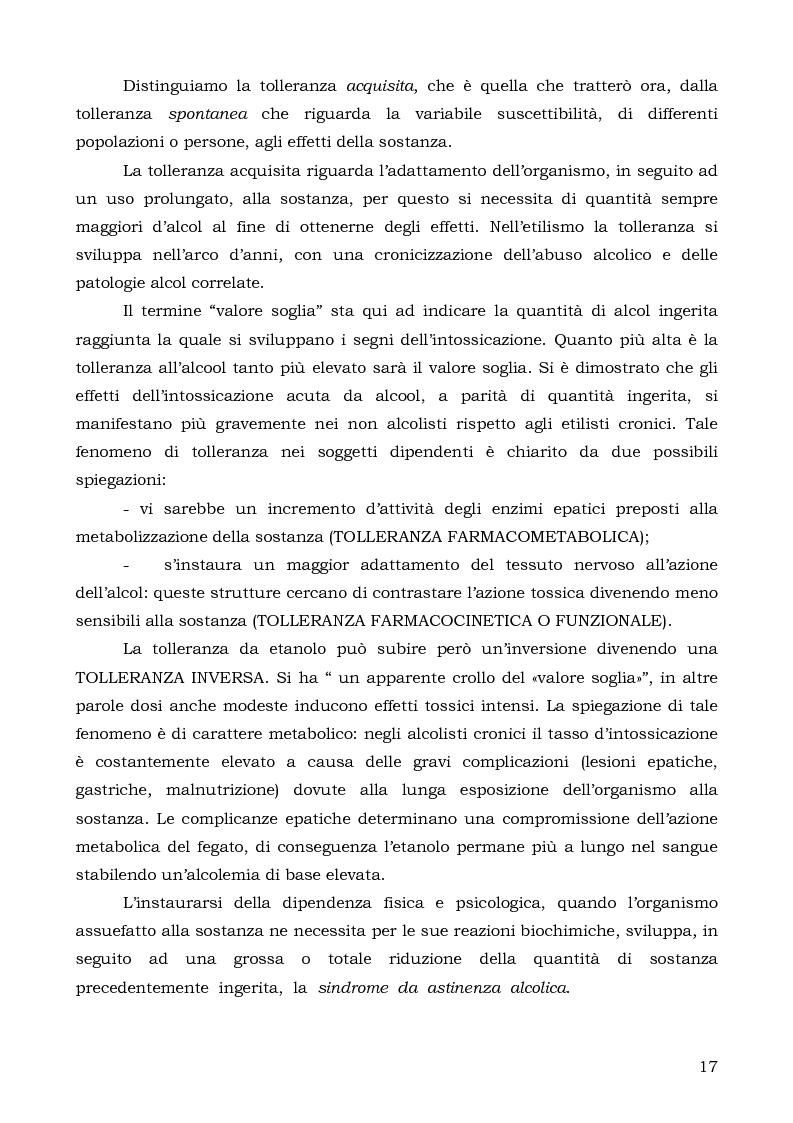 Anteprima della tesi: Le prospettive terapeutiche dell'alcolismo. La comunità terapeutica di ''Is Lampis'', Pagina 13