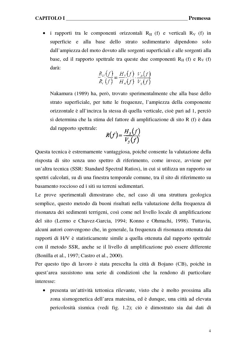 Anteprima della tesi: Misure di rumore sismico per lo studio delle amplificazioni di sito, Pagina 4