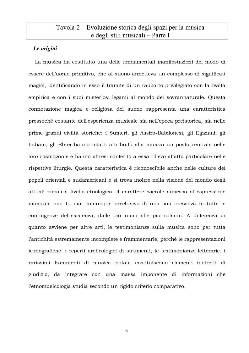 Anteprima della tesi: Spazi per la musica, Pagina 6