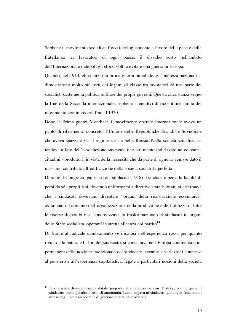 Anteprima della tesi: Deregolamentazione del mercato del lavoro e ridefinizione della rappresentanza sindacale, Pagina 8