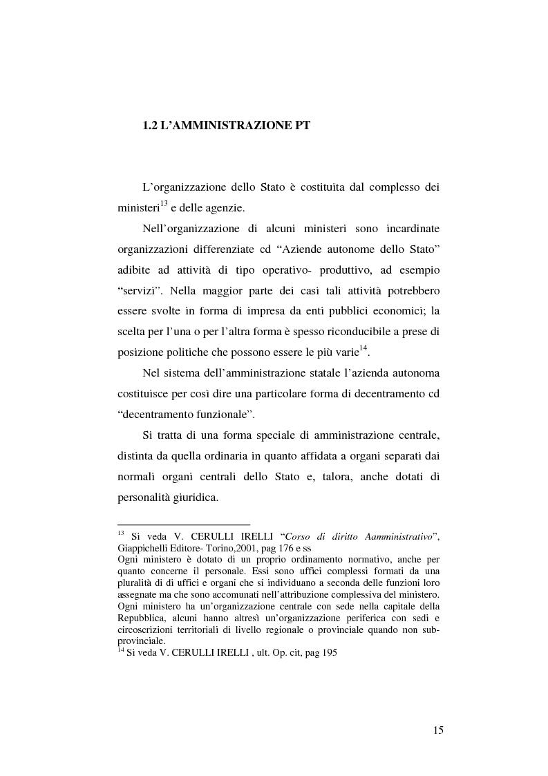 Anteprima della tesi: Il rapporto di lavoro nelle Poste Italiane SpA, Pagina 10