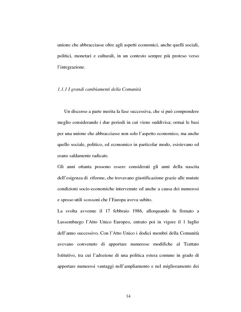 Anteprima della tesi: La convergenza regionale nelle politiche strutturali dell'Ue: un confronto tra Italia e Francia, Pagina 14