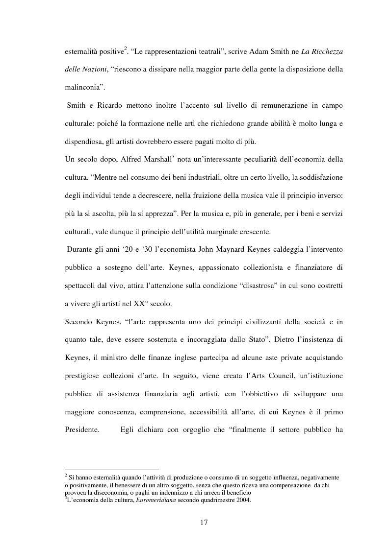 Anteprima della tesi: Rilevanza economica del settore culturale: strutture e forme di finanziamento, Pagina 11