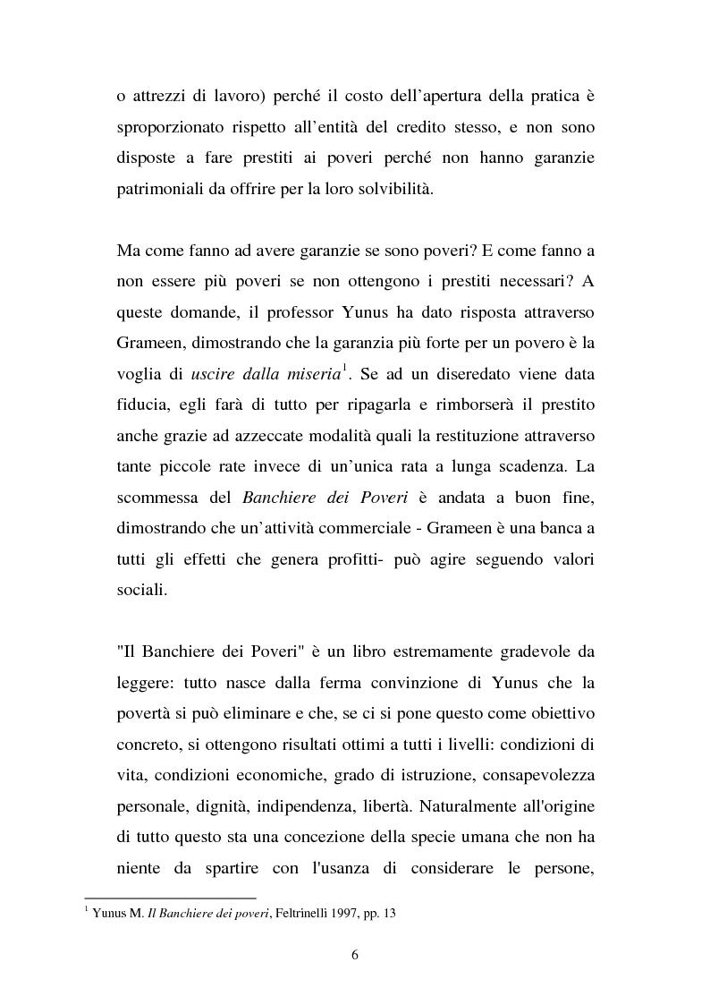 Anteprima della tesi: Muhammad Yunus: il banchiere dei poveri. Organizzazione e società., Pagina 2