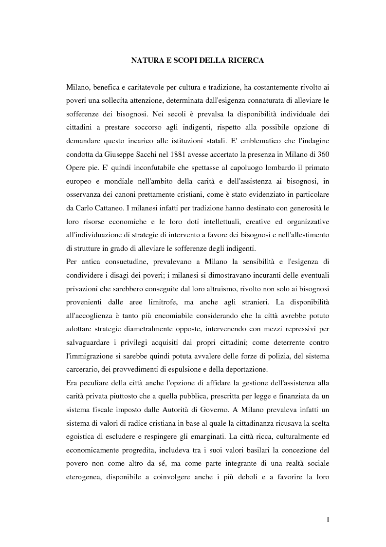 Anteprima della tesi: L'Opera Pia del Baliatico e il Pio Istituto di Maternità e dei Ricoveri, Pagina 1