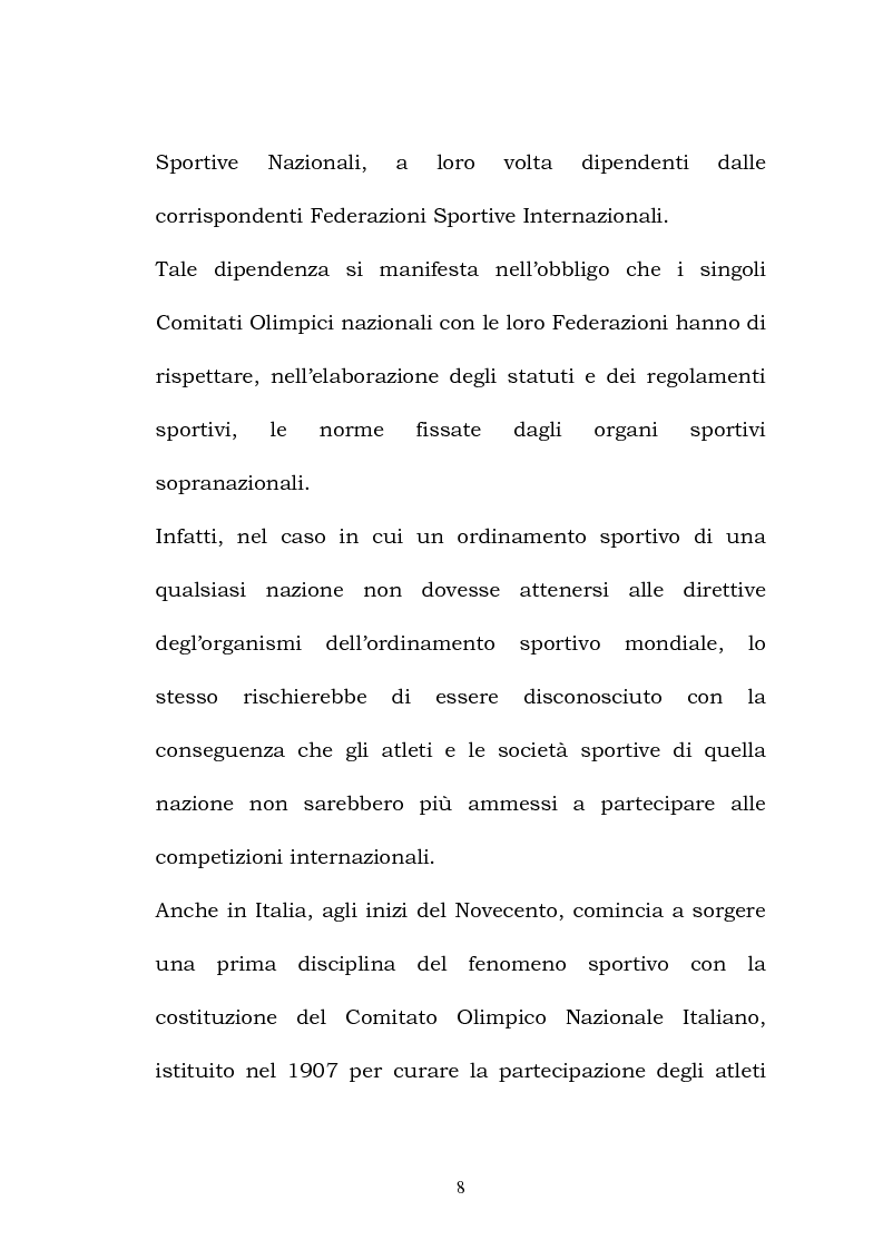 Anteprima della tesi: Rapporti tra ordinamento giuridico sportivo e ordinamento giuridico statale, Pagina 3