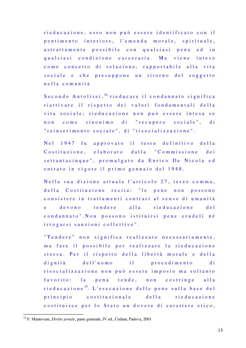 Esecuzione Penale Trattamento Sanzionatorio Rieducazione Del