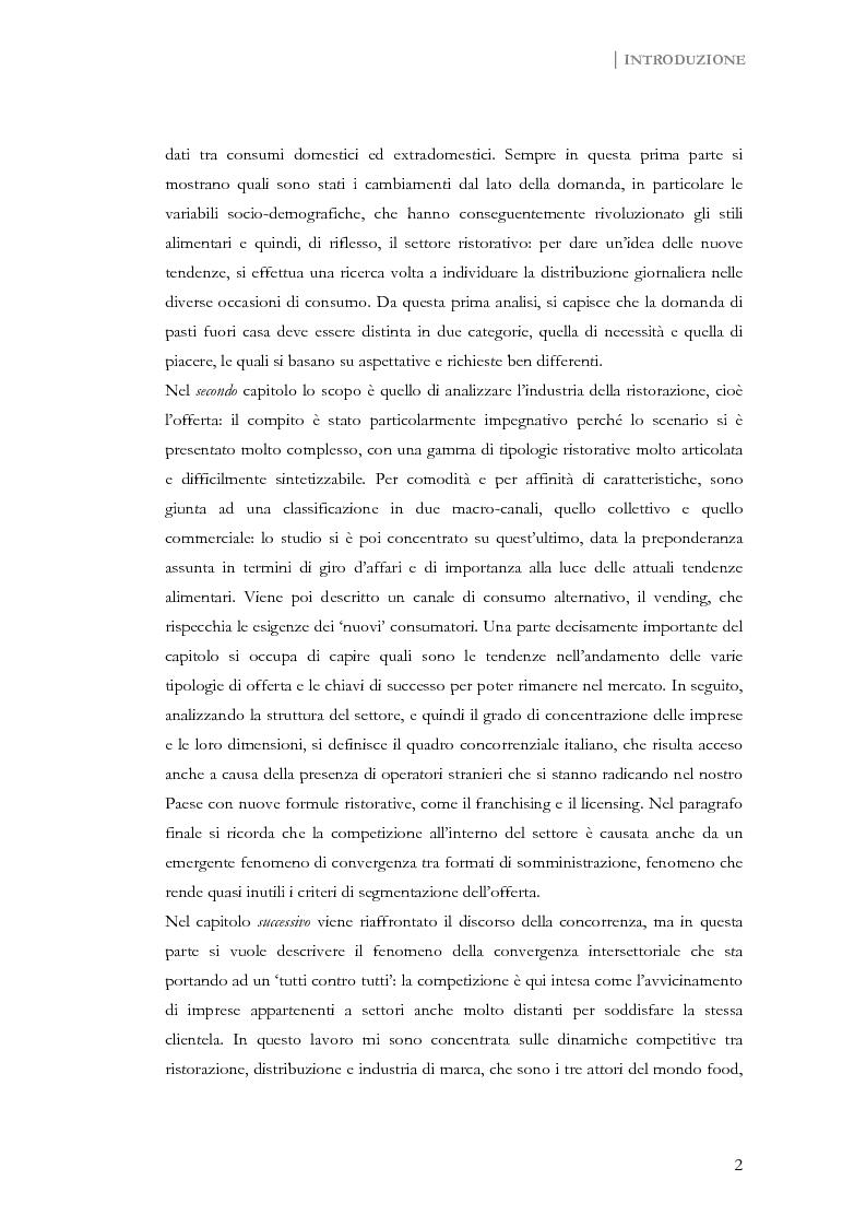 Anteprima della tesi: Strategie di marketing nel settore dei consumi extradomestici, Pagina 2
