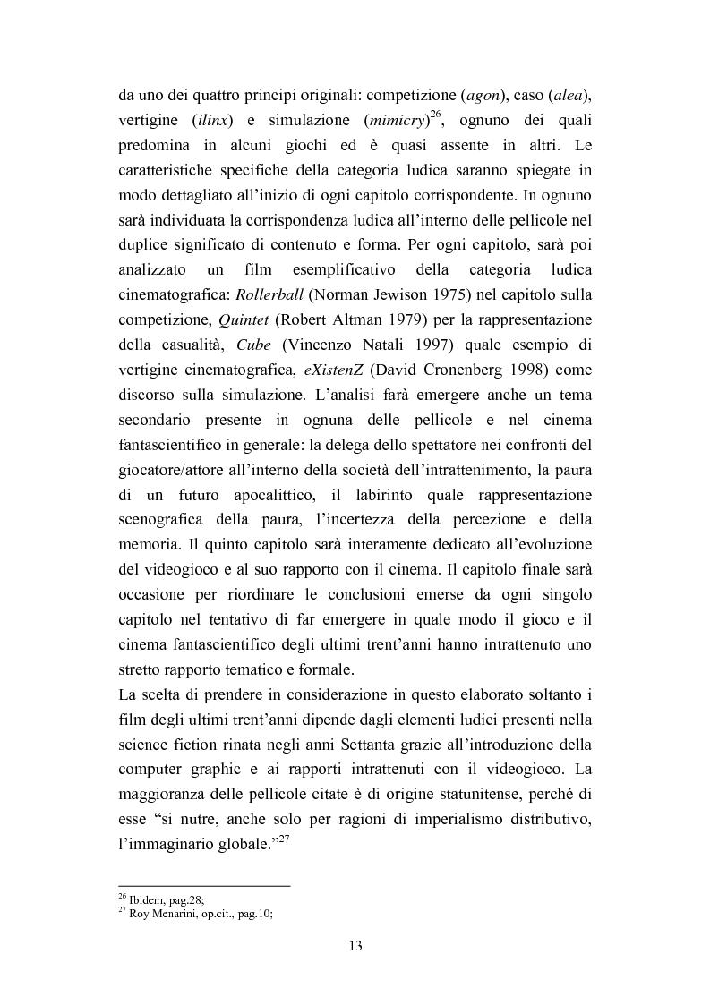 Anteprima della tesi: Dal Fantascientifico al Technoludico: il concetto di gioco nel cinema di fantascienza (1973 - 2005), Pagina 9